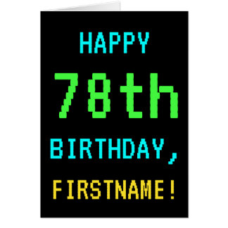 Fun Vintage/Retro Video Game Look 78th Birthday Card