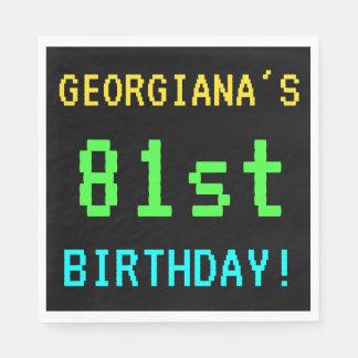Fun Vintage/Retro Video Game Look 81st Birthday Paper Napkin
