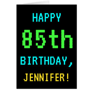 Fun Vintage/Retro Video Game Look 85th Birthday Card