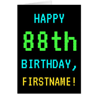 Fun Vintage/Retro Video Game Look 88th Birthday Card