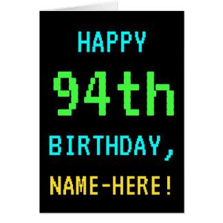 Fun Vintage/Retro Video Game Look 94th Birthday Card