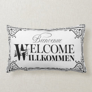 Fun Vintage Welcome Pillow - Pick Your Color