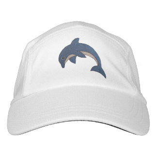 Fun Vivid Blue Dolphins White Stomachs Jumping Hat