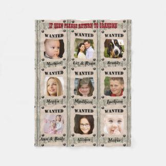 Fun Wanted Poster, Custom Photo Fleece Blanket