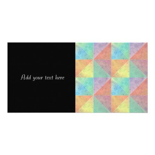 Fun Watercolor Geometric Art Triangles