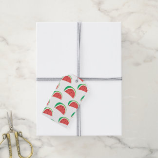 Fun Watermelon Pattern Gift Tags
