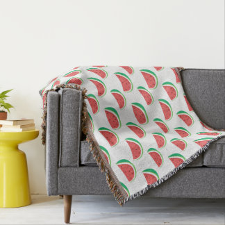 Fun Watermelon Pattern Throw Blanket