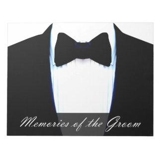 Fun Wedding Game Memories Of The Groom Tuxedo Notepad