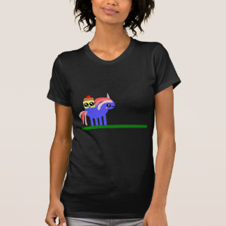 Fun Weird Unicorn and Mr. Cupcake T-Shirt
