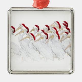 Fun White Pelican Xmas Ornament