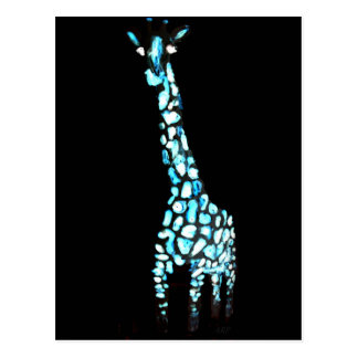 Fun Wild Animal Abstract Giraffe Postcard