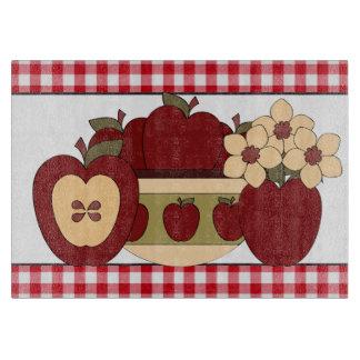 Fun with Apples glass cutting board