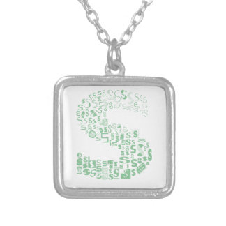 Fun with Fonts S Silver Plated Necklace