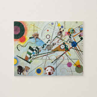 Fun with Kandinsky's Composition VIII Jigsaw Puzzle