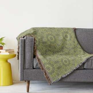 Fun with lime green throw blanket