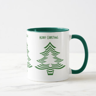 Fun with Picture Fonts - Green Christmas Tree Mug