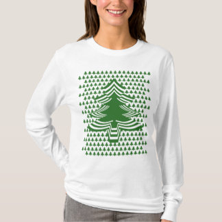 Fun with Picture Fonts - Green Christmas Tree T-Shirt