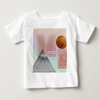 Fun with shapes.metallic,gold,rose gold,silver, baby T-Shirt
