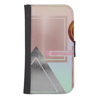 Fun with shapes,metallic,gold,rose gold,silver,ult samsung s4 wallet case