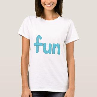 fun word in aqua tee shirt