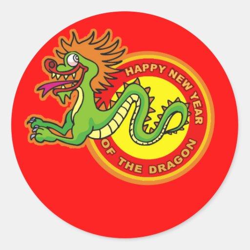 Fun Year of the Dragon Design Sticker