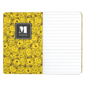 Fun Yellow Smiles Pattern | Add Your Name Journal