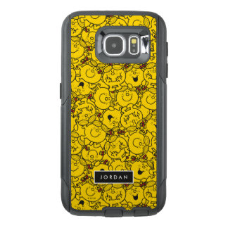 Fun Yellow Smiles Pattern   Add Your Name OtterBox Samsung Galaxy S6 Case