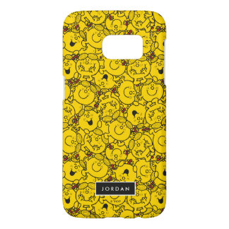 Fun Yellow Smiles Pattern | Add Your Name Samsung Galaxy S7 Case