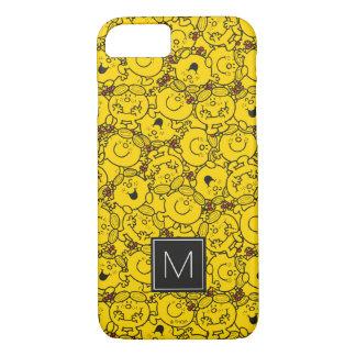 Fun Yellow Smiles Pattern   Monogram iPhone 7 Case