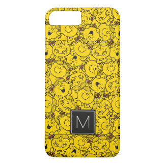 Fun Yellow Smiles Pattern | Monogram iPhone 8 Plus/7 Plus Case