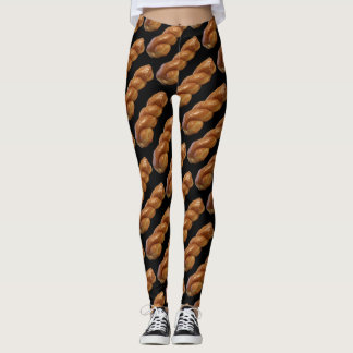 Fun Yoga Pants Stretch Leggings With Glazed Twist