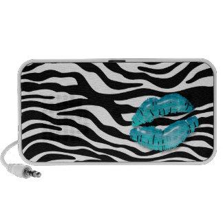Fun Zebra Doodle Speaker Cover Blue Lips