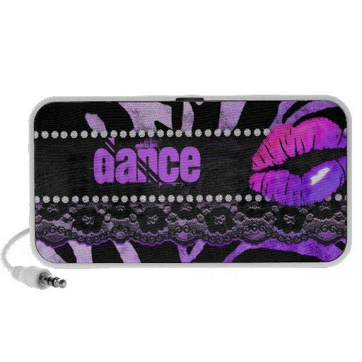 Fun Zebra Doodle Speaker Cover Lips 'n Lace Purple