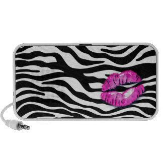 Fun Zebra Doodle Speaker Cover Pink Lips