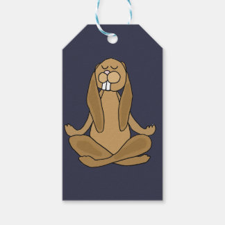 Fun Zen Bunny Rabbit in Yoga Pose Gift Tags