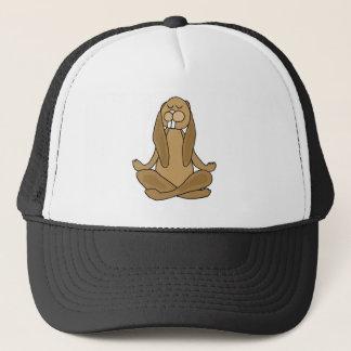 Fun Zen Bunny Rabbit in Yoga Pose Trucker Hat
