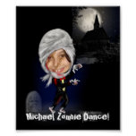 Fun Zombie caricature photo template - poster gift