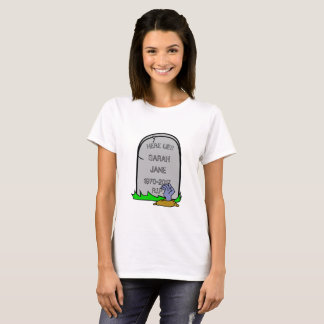 Fun Zombie Gravestone (Add Your Name) T-Shirt