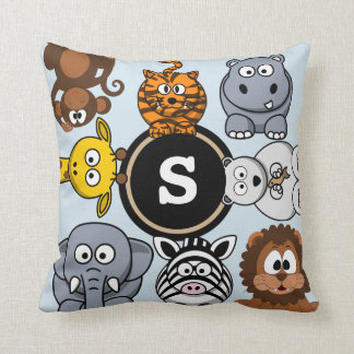 Fun Zoo Animals Throw Pillow
