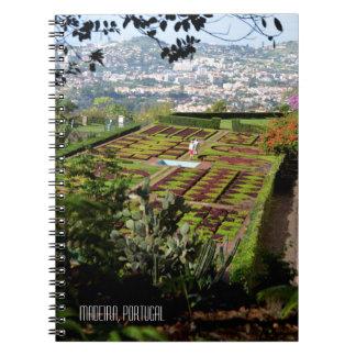 Funchal Botanical Gardens Madeira Portugal Spiral Notebook