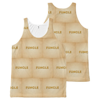 Funcle Retro Inspired Typography All-Over-Print Tank Top