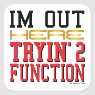 Function Square Sticker