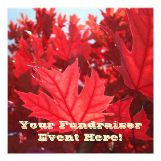 Fundraiser Event Invitation Card Announcements