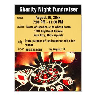 "Fundraising Event Casino Theme 4.25"" X 5.5"" Invitation Card"