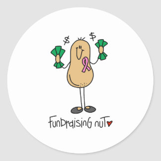 Fundraising Nut Classic Round Sticker