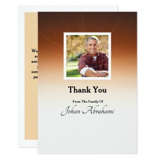 Funera Thank You Card