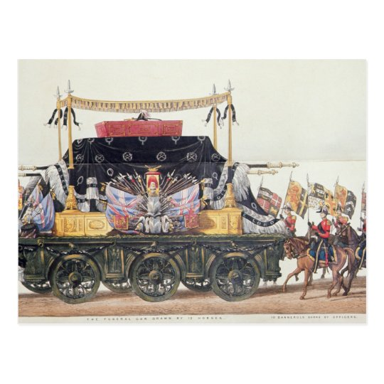 Funeral Car of the Duke of Wellington, 1853 Postcard