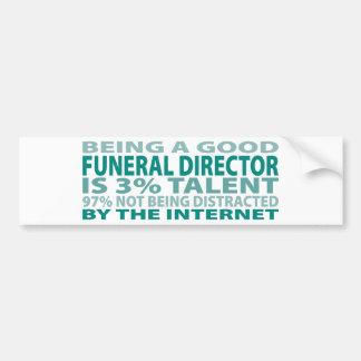 Funeral Director 3% Talent Bumper Sticker