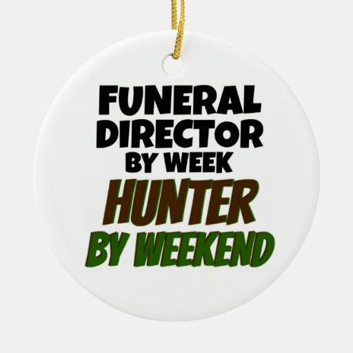 Funeral Director by Week Hunter by Weekend Christmas Tree Ornaments