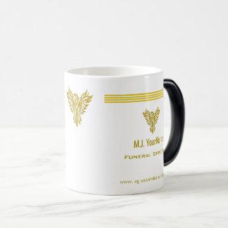 Funeral Director gold stripes and rising phoenix Magic Mug